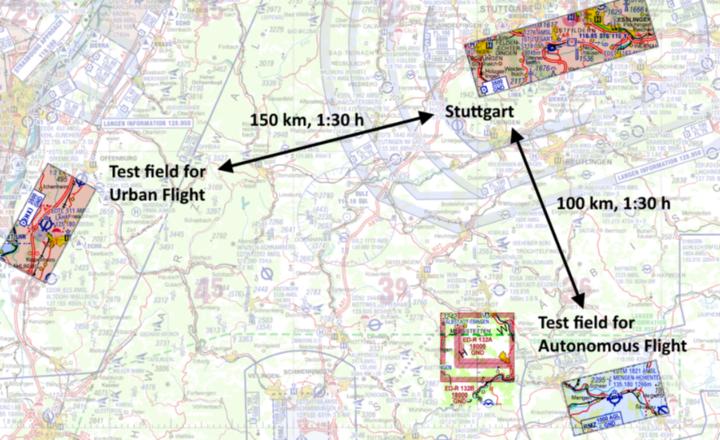 Standorte der beiden Testfelder